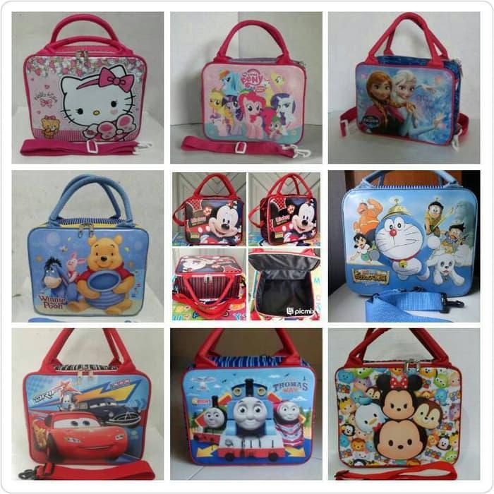 Promo!! Tas Koper / Tas Renang / Travel Bag Anak Karakter Ukuran Sedang - ready stock