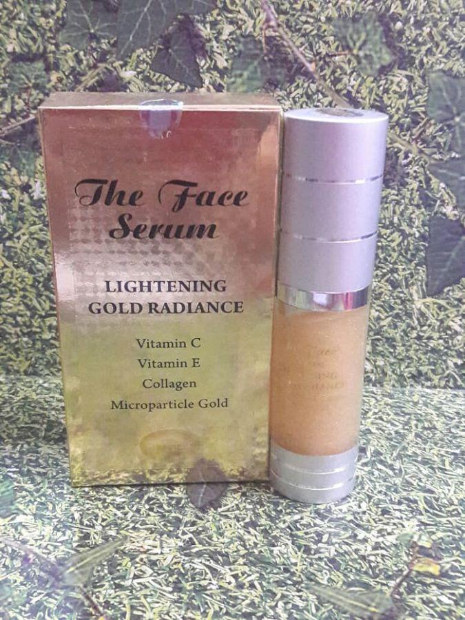 THE FACE SERUM LIGHTENING GOLD RADIANCE VIT. C + VIT. E + COLLAGEN - Paket Perawatan Wajah Terlaris