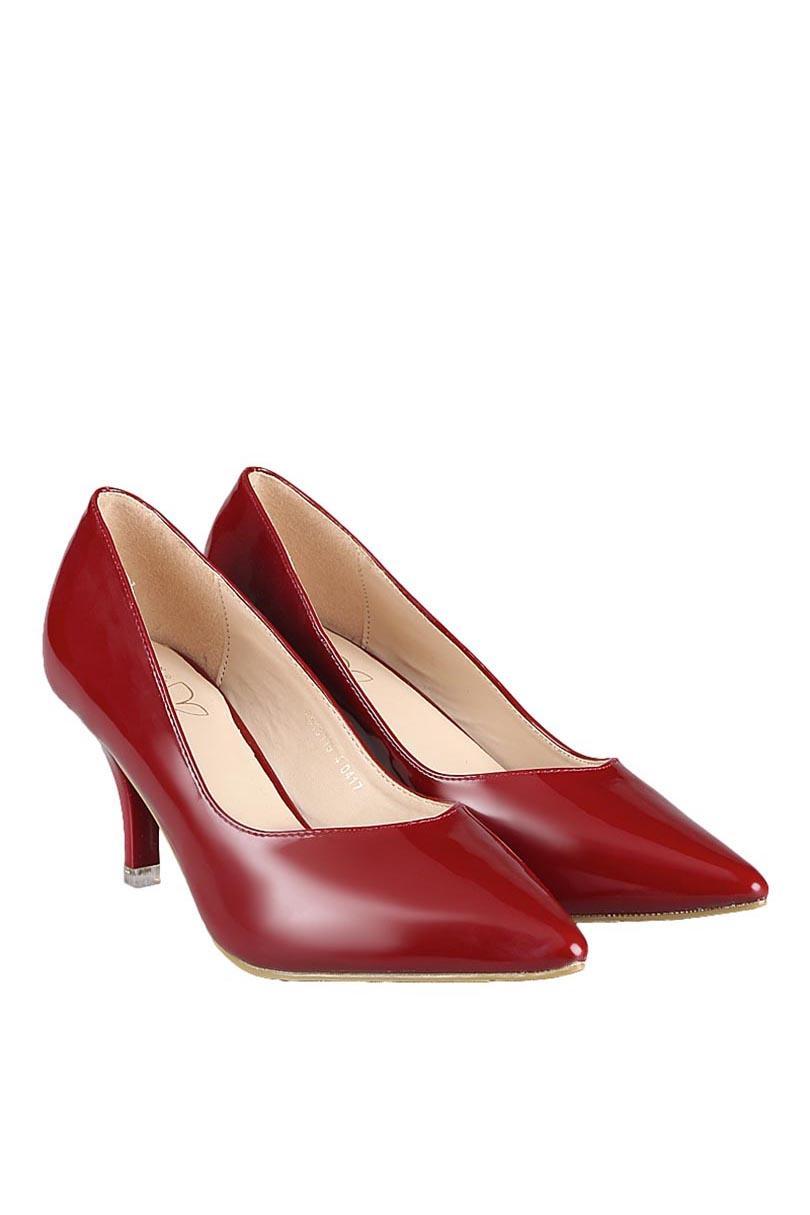 Bata Sepatu Heels Fashion Wanita Felic Burgundy
