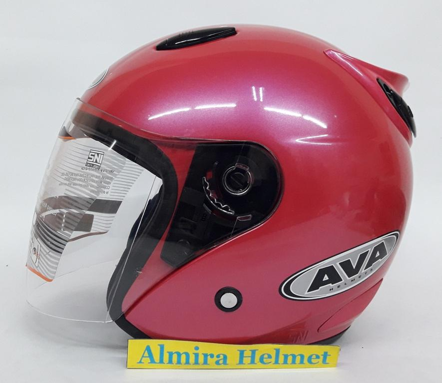 AVA SS7 model Ink Centro Helm Half Face - Pink