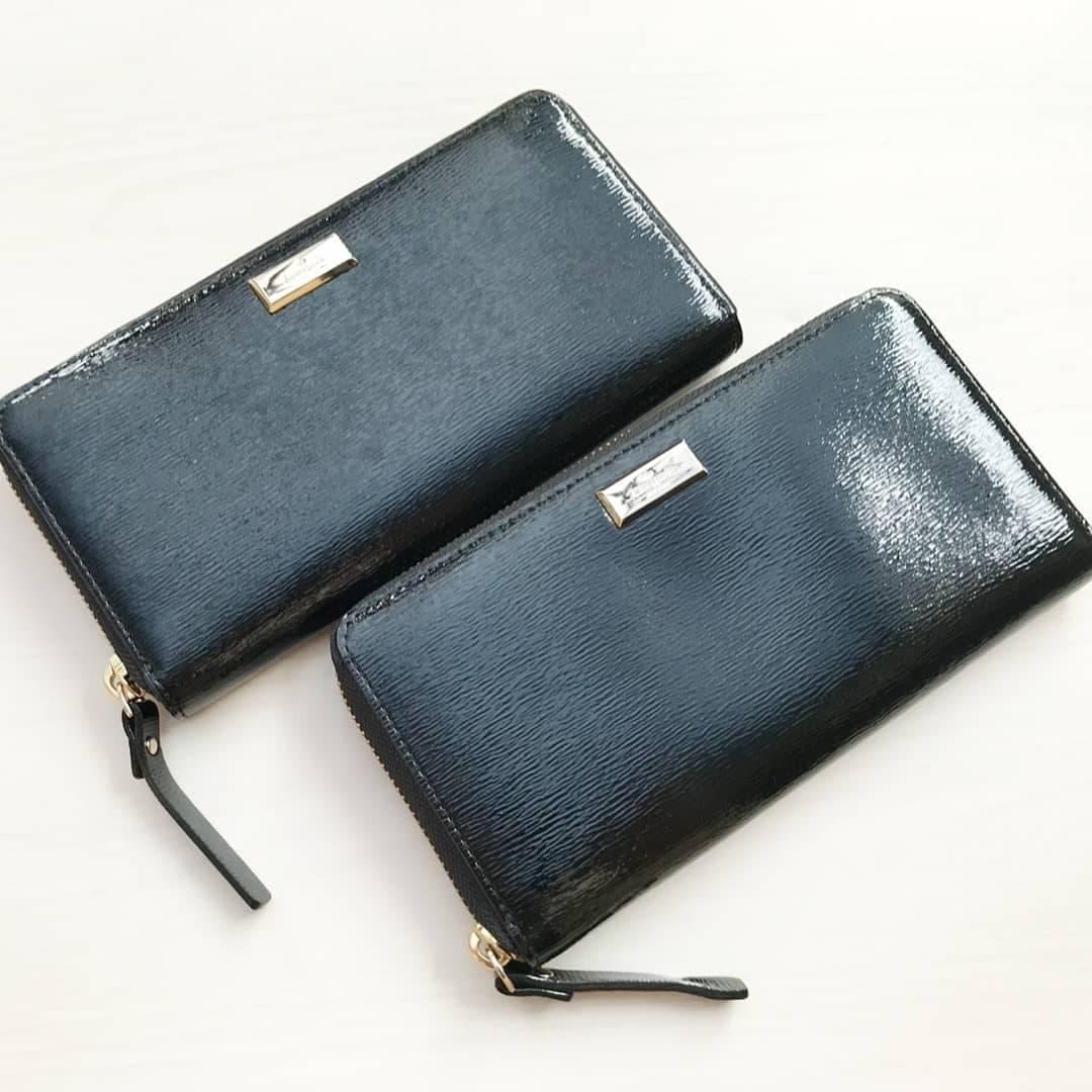 Dompet / dompet wanita Kate Spade  / Katespade Neda Bixby Patent Leather Black