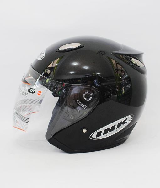 Helm basic ink Centro warna Hitam Glossy