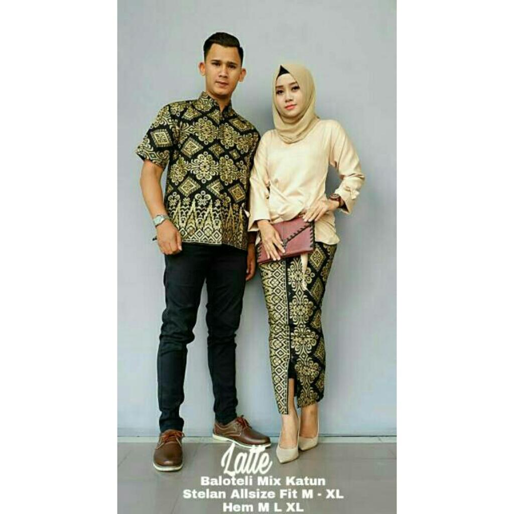 Likin TERMAHAL – Kebaya Couple Modern - Couple Batik – Batik Sarimbit - Baju Wanita Terbaru - Batik Kondangan - Baju Batik Couple Pitaloka Wajik