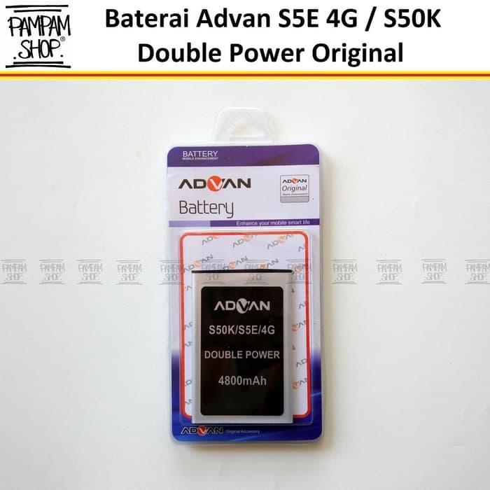 Baterai Handphone Advan S5E 4G S50K Double Power Original OEM 100% Batre Batrai Advance Dual