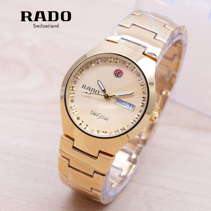 Jam Tangan Wanita / Cewek Rado DiaStar SK3600 Rantai Full Gold
