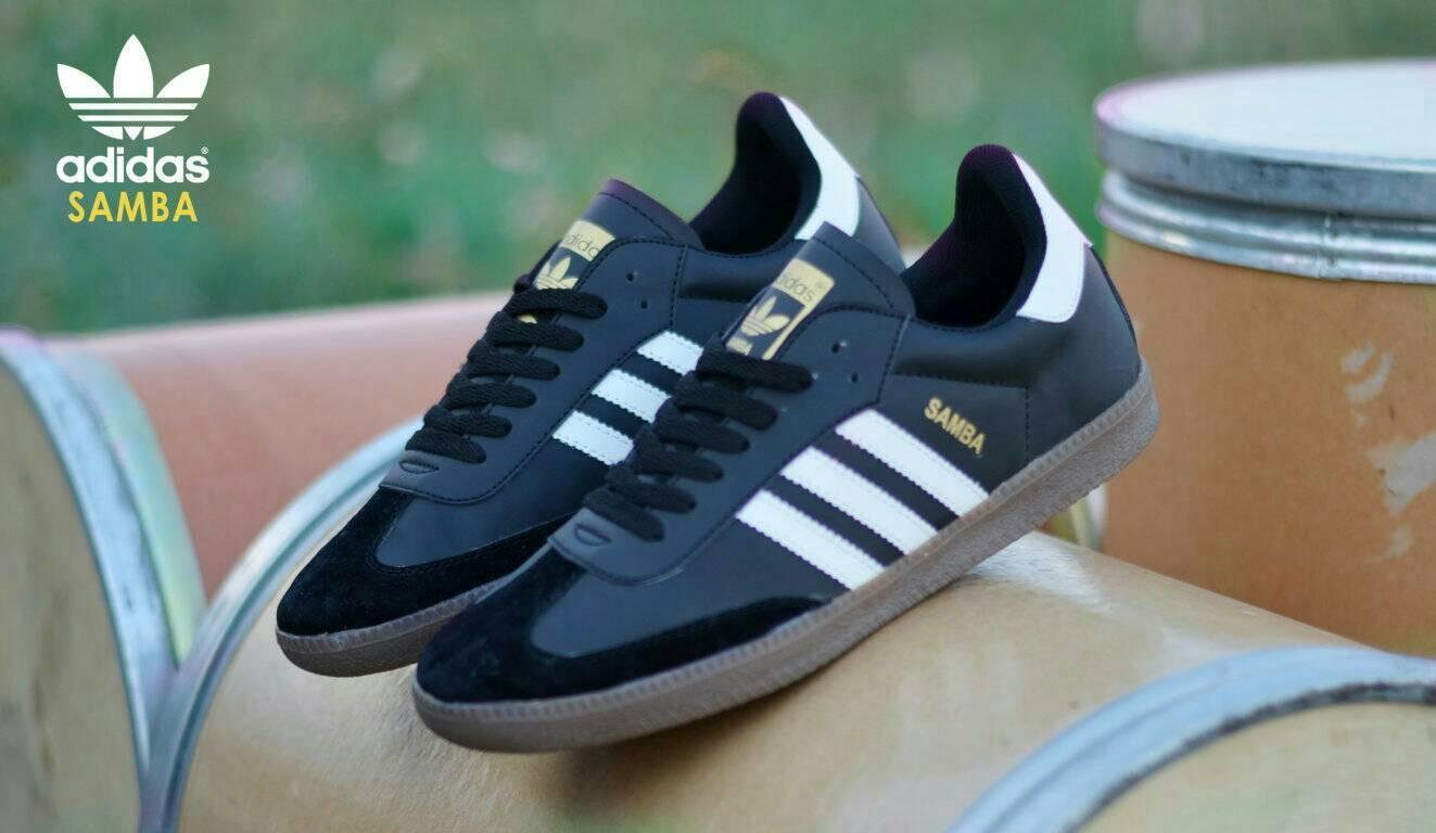 Sepatu Adidas Men Samba OG Shoes Import Quality - Black White -