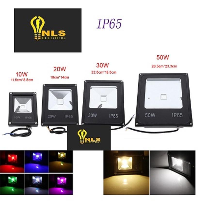 Lampu LED SOROT 50W Flood Light Lampu tembak RGB warna warni 50 watt
