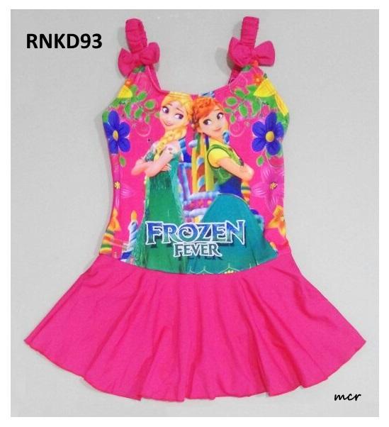 RNKD93 - Baju Renang Anak Tanktop Frozen Fever Pink