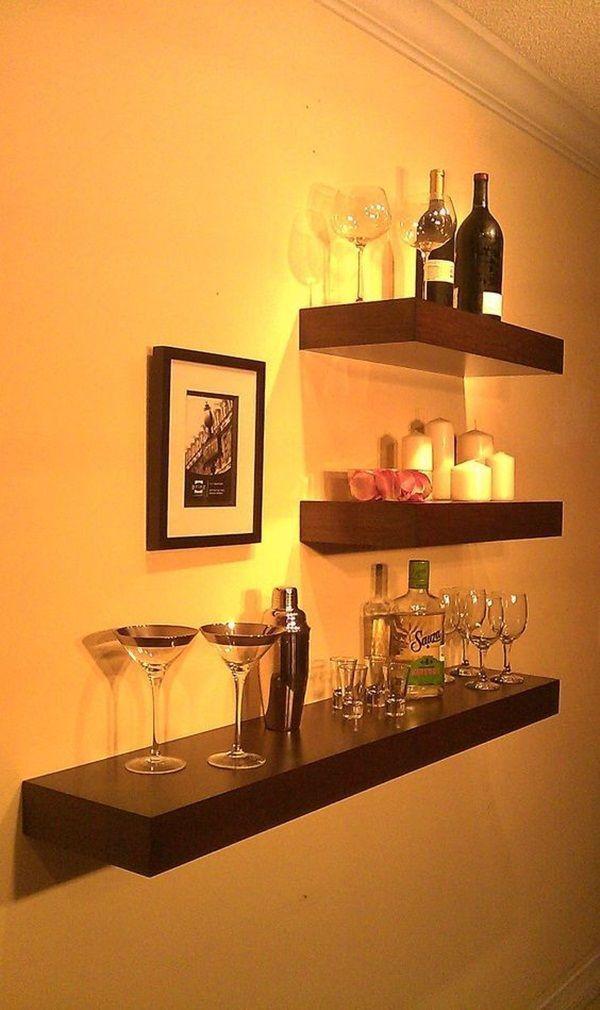 Floating Shelves Ambalan Dekorasi - Rak Dinding / Rak Buku Minimalis Set 3 Pcs / 40cm-30cm-20cm