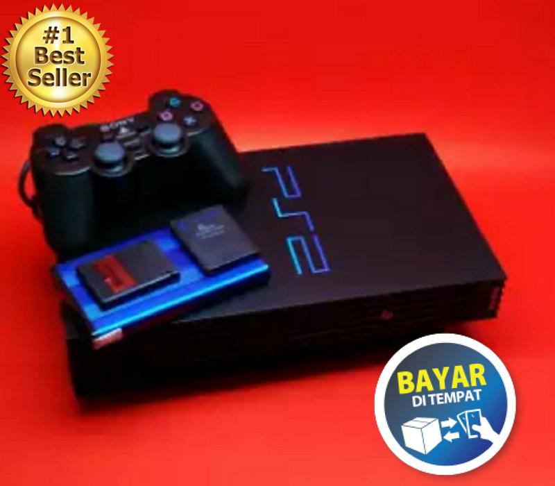 PS2 - Sony PlayStation 2 USB Harddisk 40 Gb Console Black Free Games + MC 16 MB