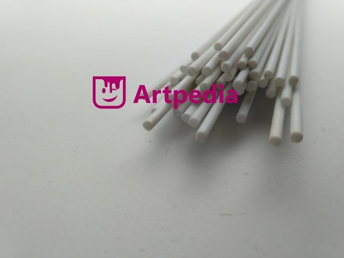 PROMO  MAKET Pipa Bulat PVC / Diorama ABS Bulat Padat / ABS Round Stick 2mm  TERLARIS