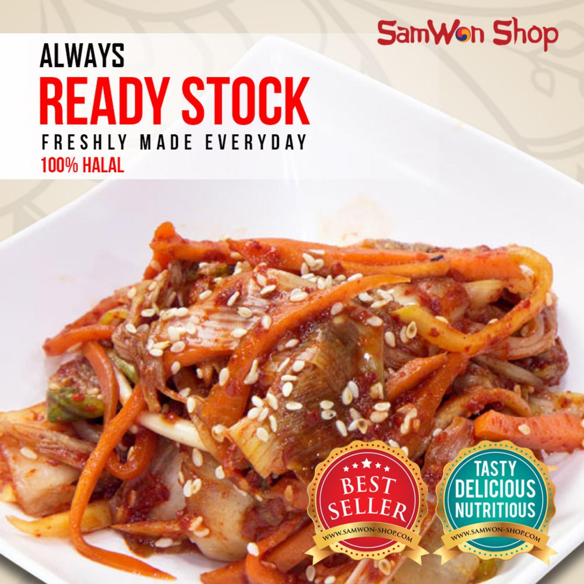 Samwon - Kimchi Mix Sawi Lobak Wortel Fresh - 250 Gram - Makanan Korea