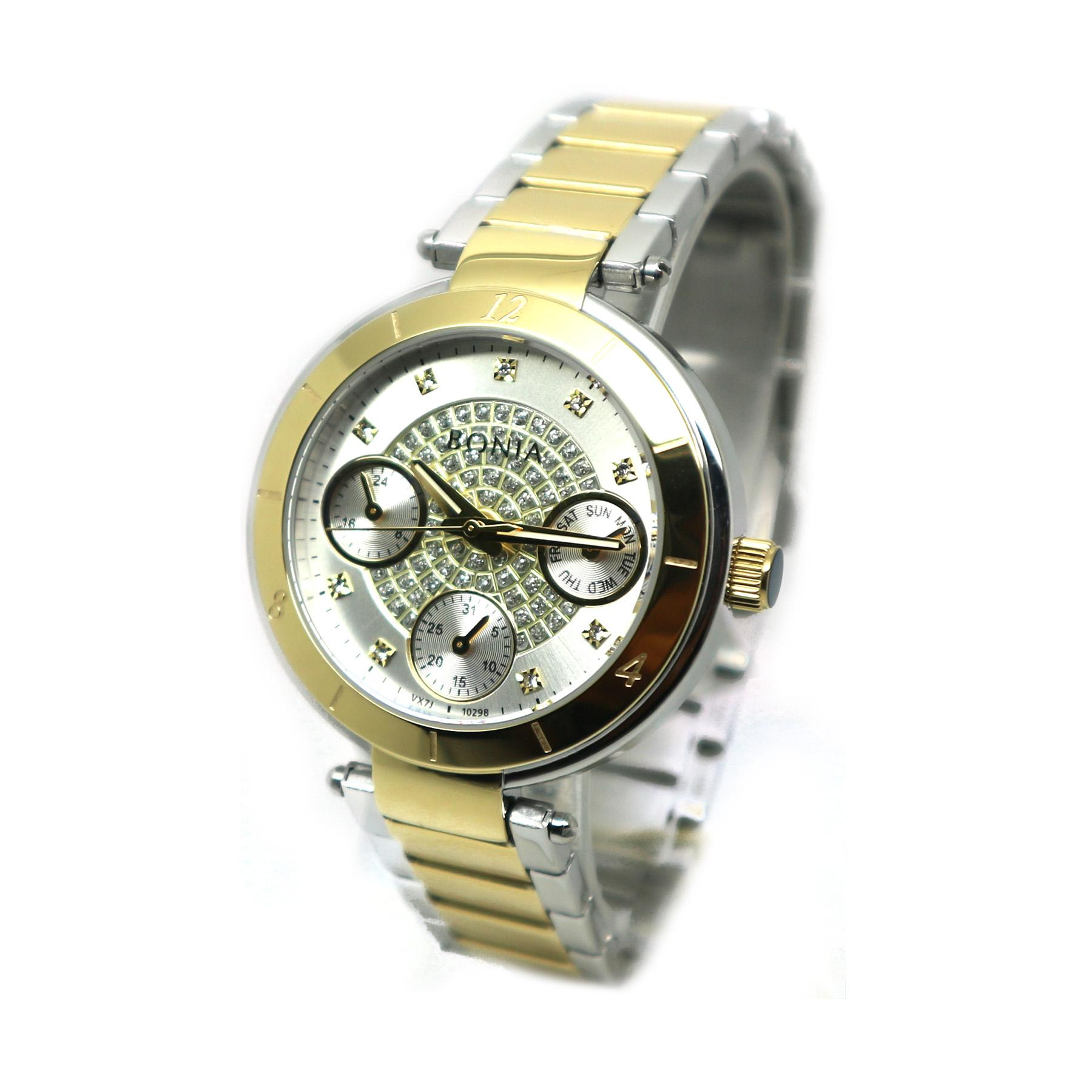 Bonia Bn 2247 Jam Tangan Wanita Stainless Steel Gold Referensi Bn10199 2257 Silver Komb Putih Bnb10298
