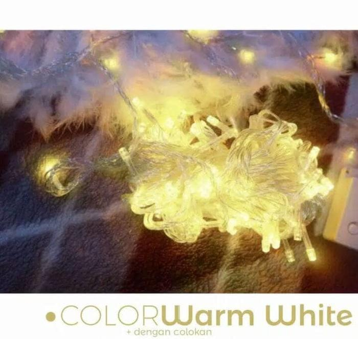 Lampu Tumblr Light Murah 10 METER / Lampu Hias ELT N-1031 Shinu_Lucky Dekorasi Dan Hias Tumblr Natal Twinkle Light Warm White 10 Meter FULL + Ada Colokan Sambungan