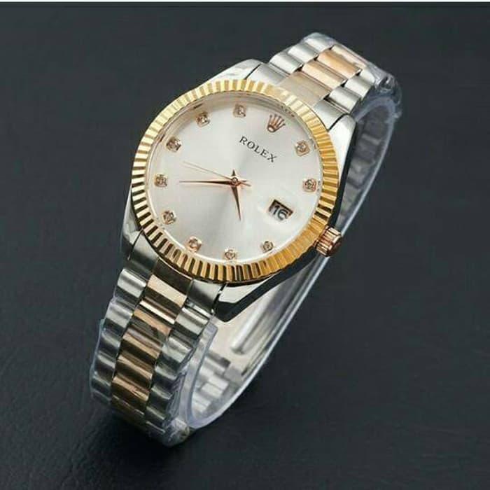 jam tangan rolex wanita / jtr 763 kombinasi