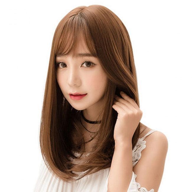 Hair Wig Rambut Palsu Sedang Korean (Light Brown)