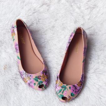 Cheapest Price Flat Shoes Bara Bara - Flat Shoes Jelly Wanita Motif Bunga 1838MSB sale - Hanya Rp69.150