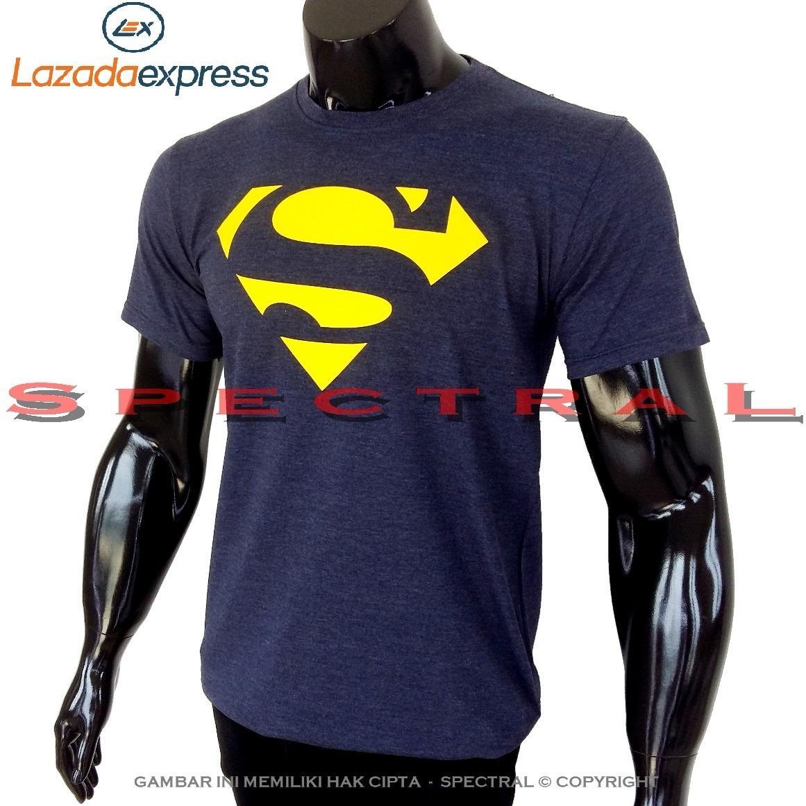 Spectral – SUPERMAN NAVY 100% Soft Cotton Combed 30s Kaos Distro Fashion T- Shirt Atasan Oblong Baju Pakaian Polos Shirt Pria Wanita Cewe Cowo Lengan Murah ...