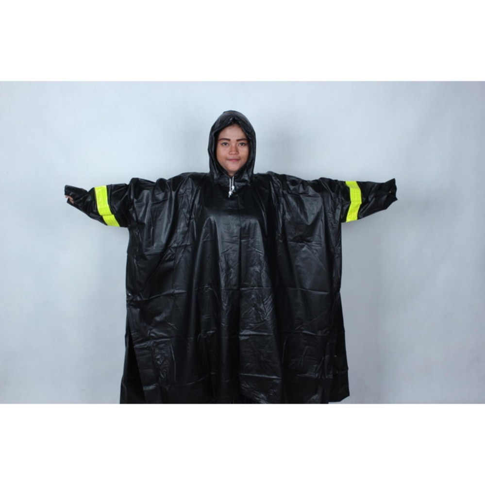 PROMO - Jas Hujan Mammoth Karet PVC Anti Tembus Air Hujan Batman Ponco kyk asv ORGINAL