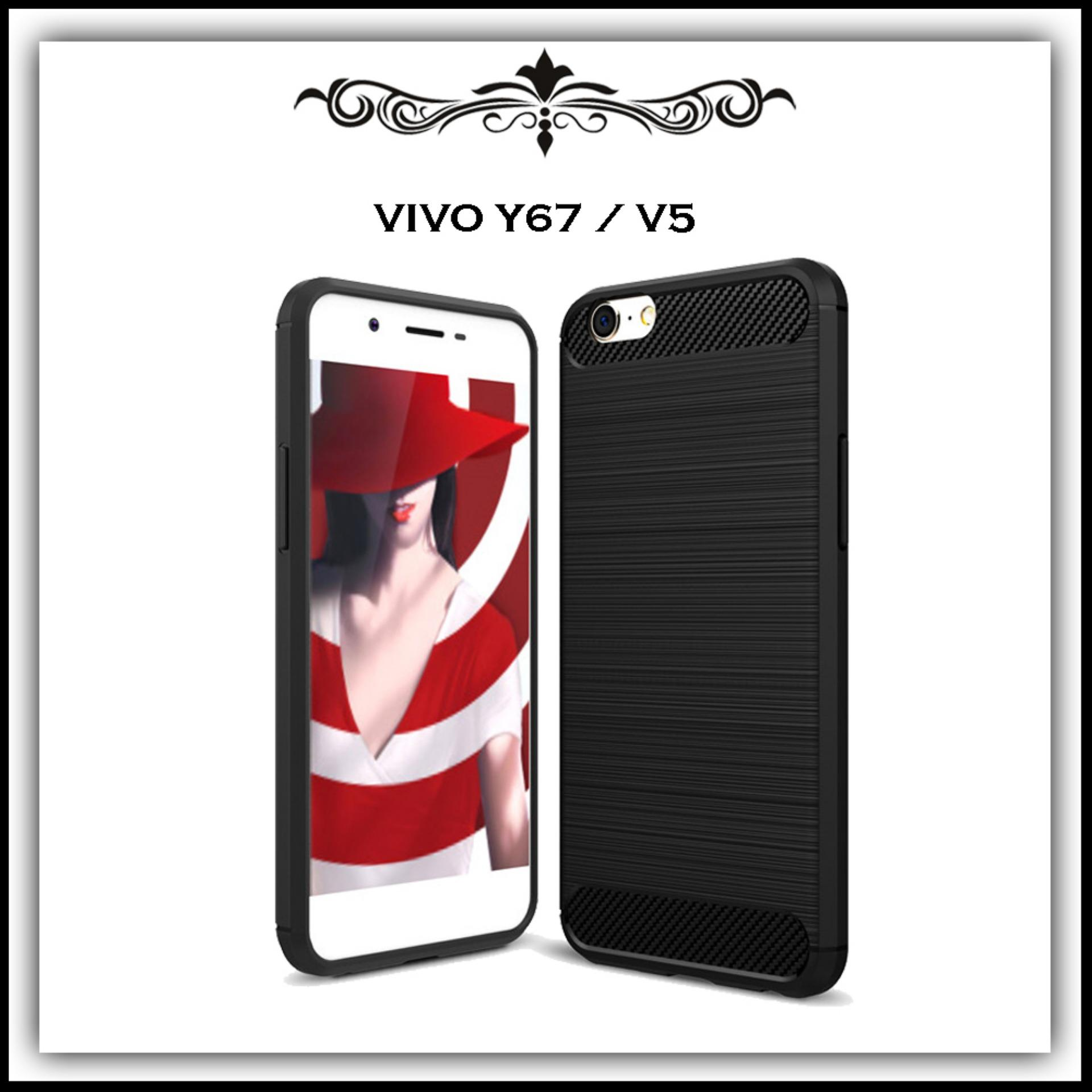 Mushroom Case Ipaky Carbon Fiber Shockproof Hybrid Elegant Case for Vivo Y67 / V5