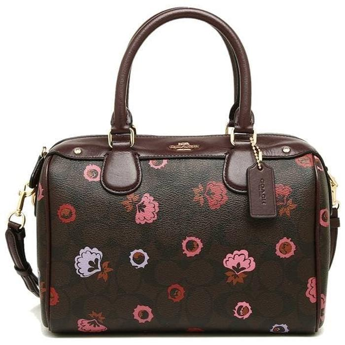 Coach Mini Bennett Brown Multi Floral- Tas Original Authentic Asli ORI ad686be6eb