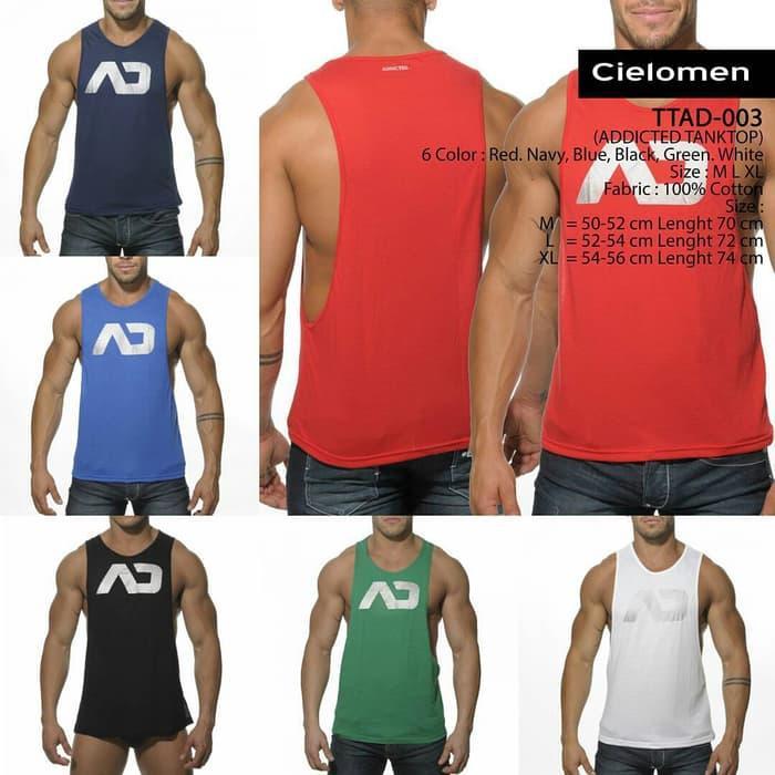 ADDICTED TTAD-003 KATUN Tanktop Kaos Oblong Singlet Gym Fitness sport - MGjrg9