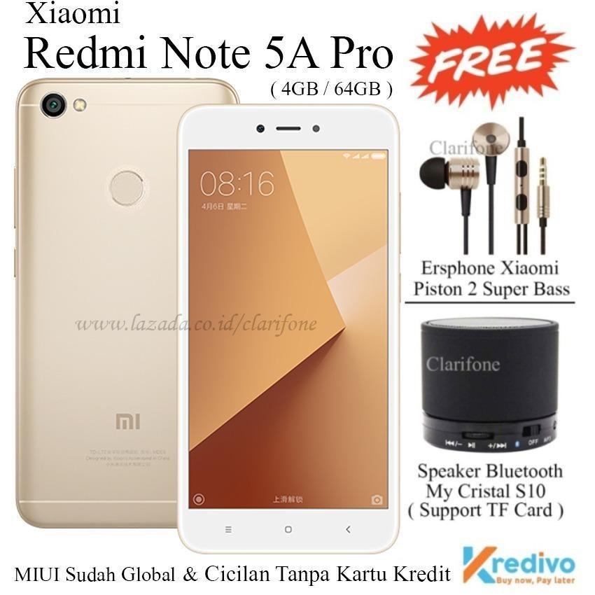 Xiaomi Redmi Note 5A Pro - Ram 4GB - Rom 64GB - 4G/LTE - Gold