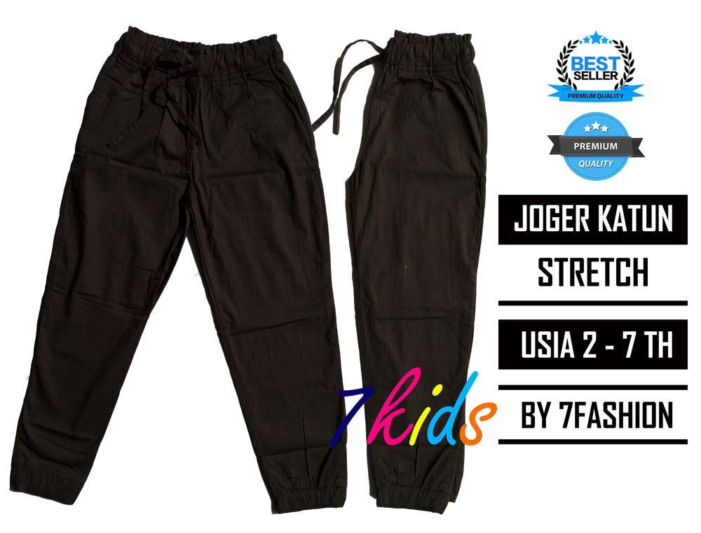 7kids terlaris jogger katun stretch hitam   celana anak perempuan   pakaian  anak   baju anak ab6956d032
