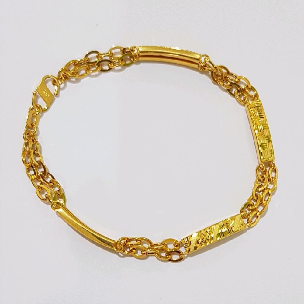 Gelang Asli Kadar 700 Pipa Variasi / Gelang Wanita / Perhiasan / Gold Jewelry By Yukon Gold.