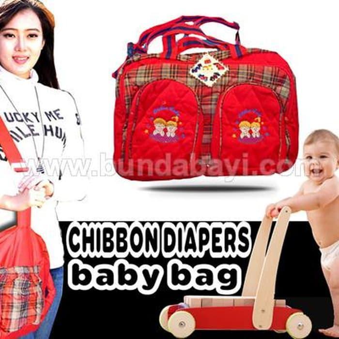Tas bayi Baby merk Chibon Diaper Bag merah TAS110