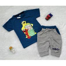 All Size 0-6 Bulan / Setelan Baju Celana Bayi Anak - Joger Elmo New