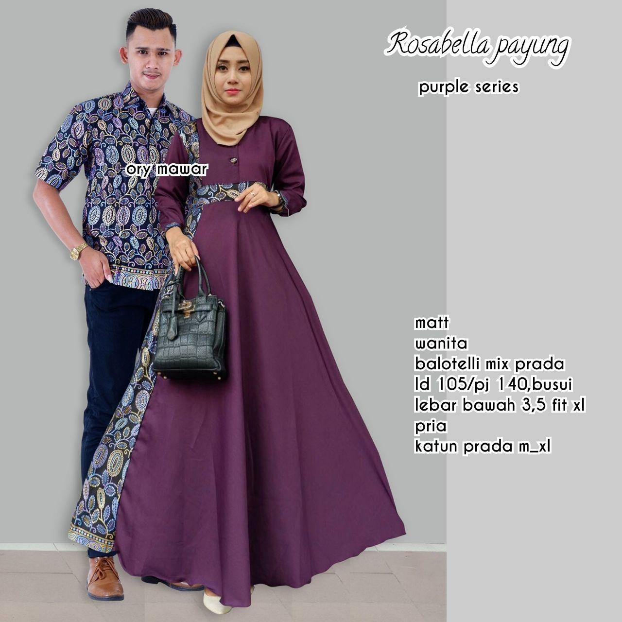 TERMURAH - Batik Couple / Couple Batik / Batik Sarimbit / Baju Batik Modern / Batik Kondangan / Baju Batik ROSABELLA UNGU