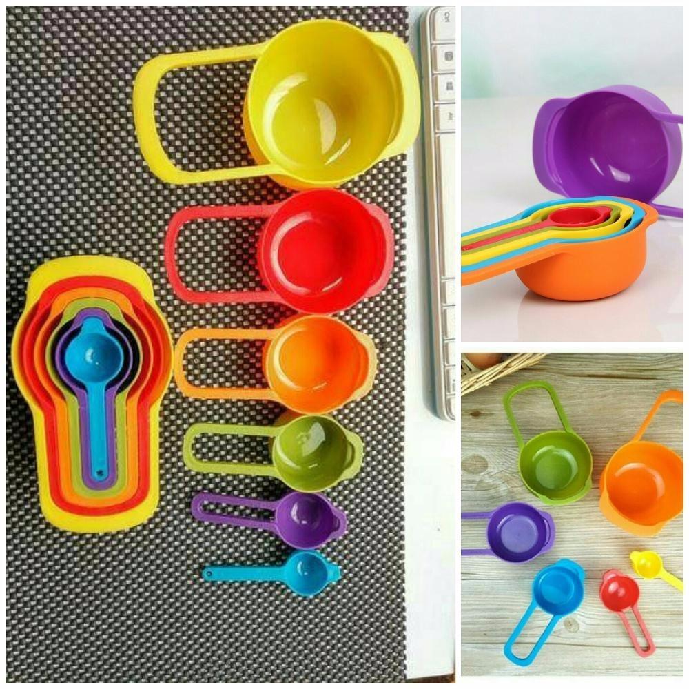 Sendok Ukur Takar Besar Takaran Bumbu Kue Susu (1 set = 6 pcs) Measuring Cup & Spoons