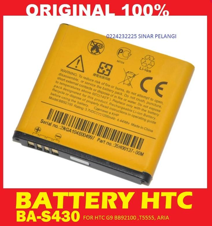 BATRE BATERAI BATTERY HTC G9 BB92100 T5555 ARIA BA-S430 1200 MAH ORIGINAL 901145