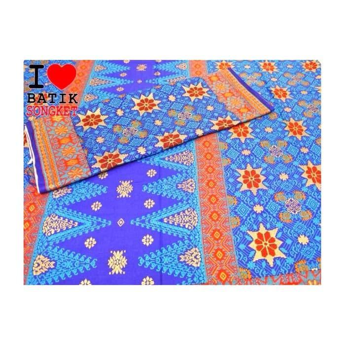 Suji Kencana songket mesin katun palembang batak medan ulos batik / Kain Batik Songket / Bahan Batik