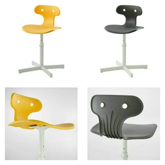 PROMO!! IKEA MOLTE Kursi Meja Belajar - Desk Chair Kuning / Abu2 MURAH /  BUBBLE 3 LAPIS / ORIGINAL / IKEA ORIGINAL