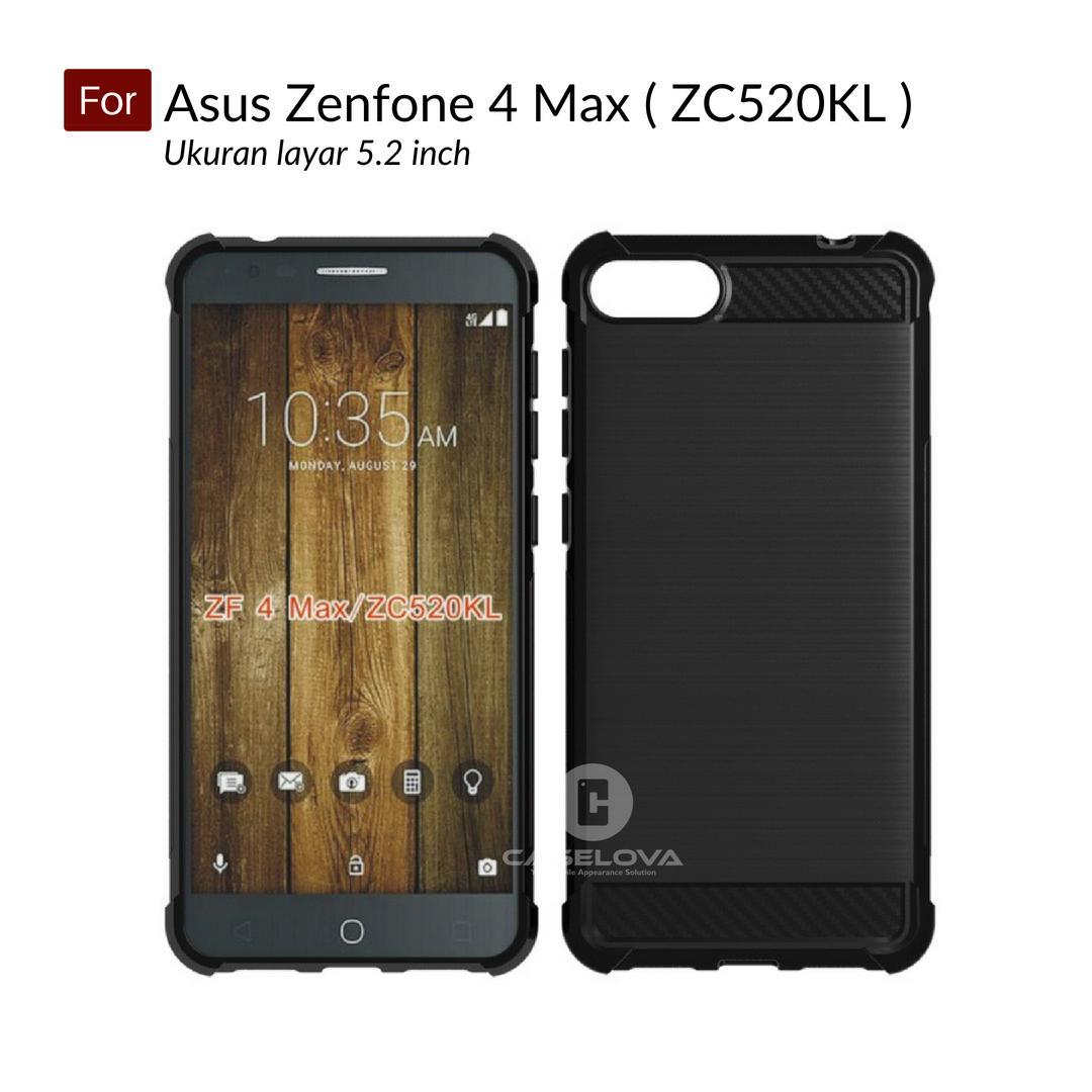 Caselova Corner Protection Cushion Premium Carbon Shockproof TPU Case For Asus Zenfone 4 Max ZC520K