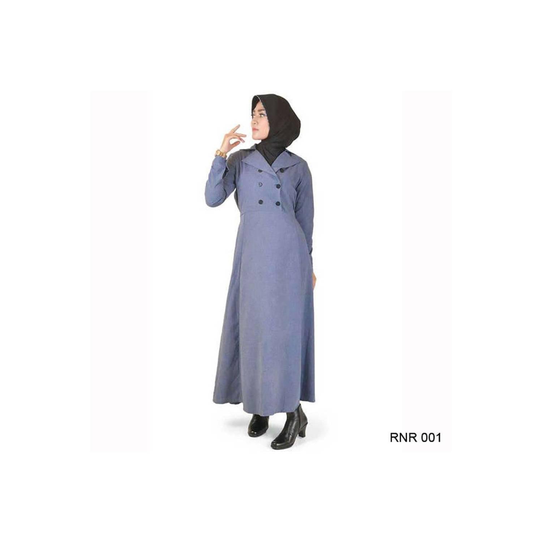 baru Baju Gamis simple Modis bahan Katun