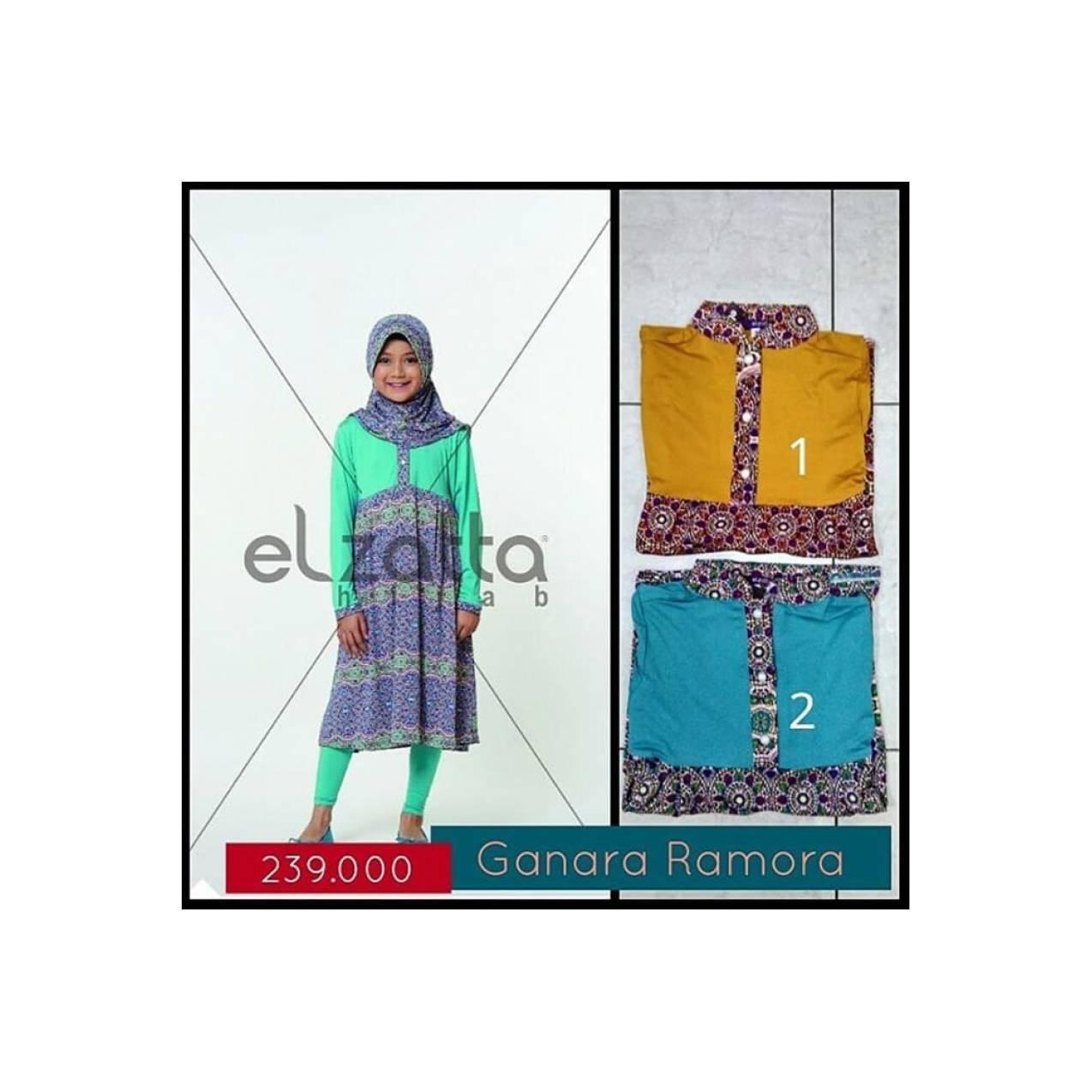 Gamis Anak Ganara Ramora Elzatta Asli Original Koleksi Busana Muslim