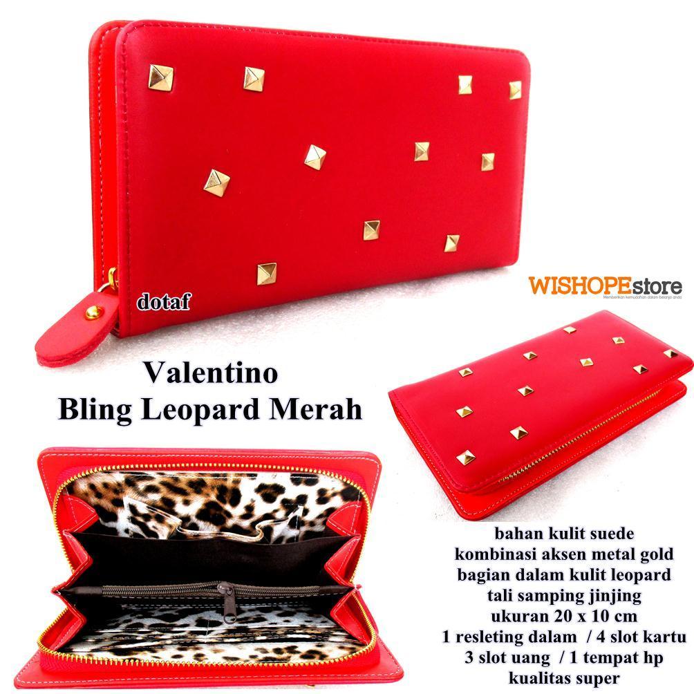 Dompet valentino bling leopard