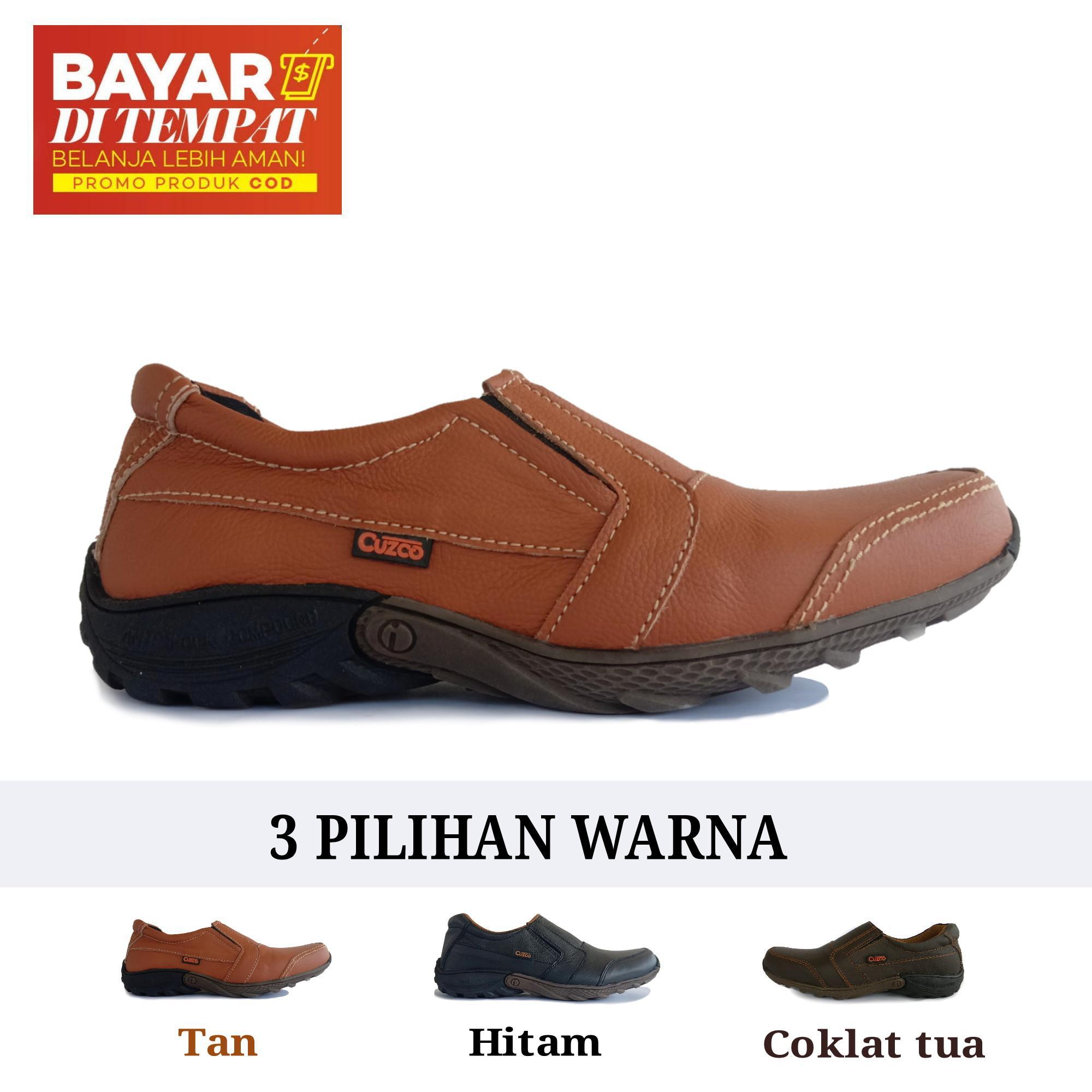 Sepatu Pria Kulit Asli Casual - Anti Licin - Cuzco c55dca8d1f