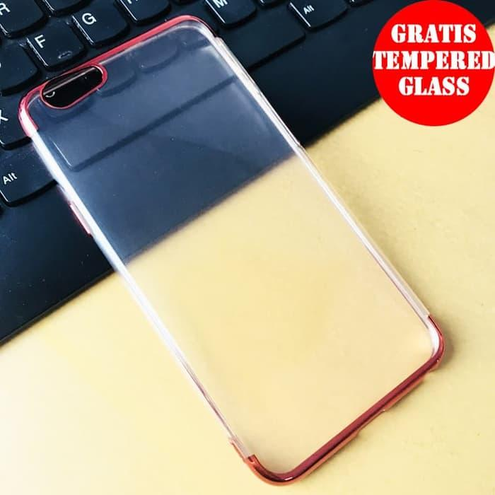 OPPO F1S Shiny Transparen Bening Ultra Thin TPU Soft Case 1354 - Merah