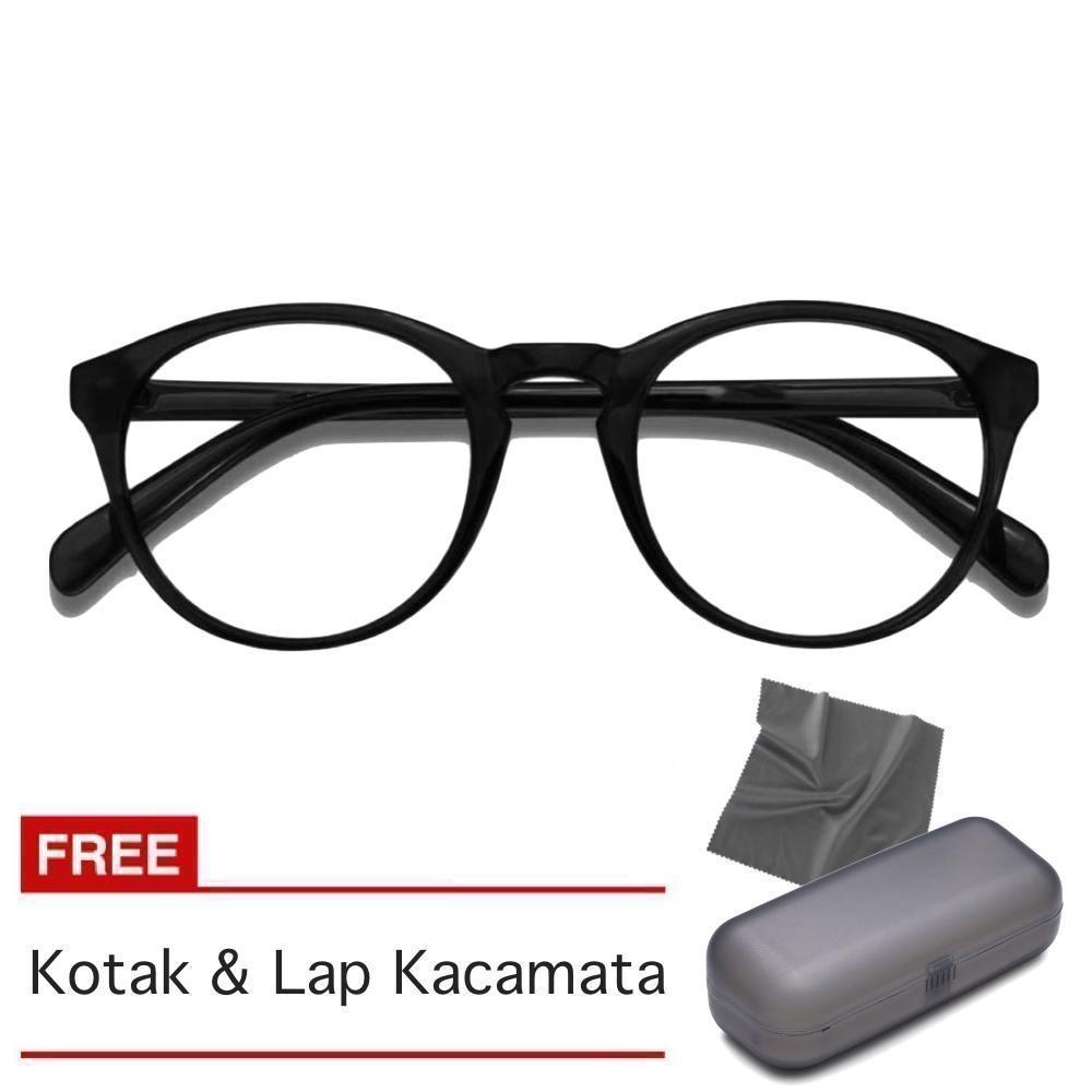 Kacamata Fasion Pria dan Wanita Korea - Free Kotak   Lap Kacamata - HND 89abe4c1ff