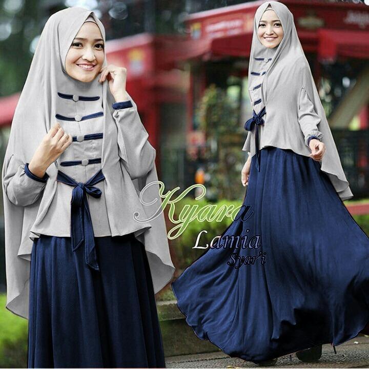 Fashion Story - Baju Muslim Syari Sania/Maxi Muslim/ Atasan Muslim Wanita /Pakaian Muslim / Atasan Muslim / Syari Muslim /Syari Mutiara