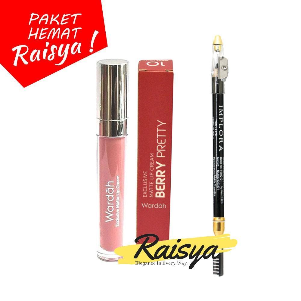 Wardah Exclusive Matte Lip Cream 10 Dan Implora Pensil Alis BPOM