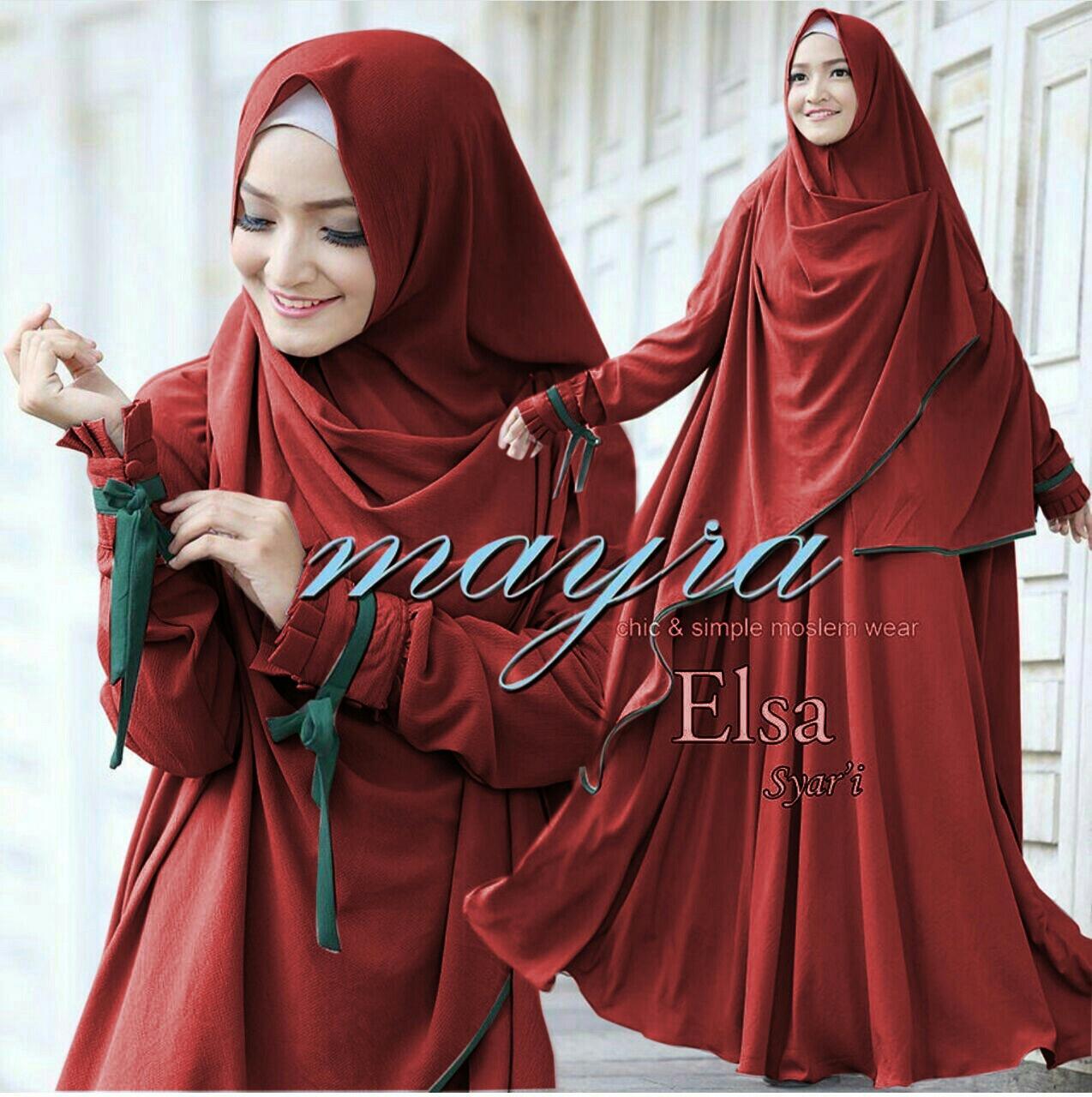 trendshopee Set Gamis Muslimah syari  Mayra Elsa