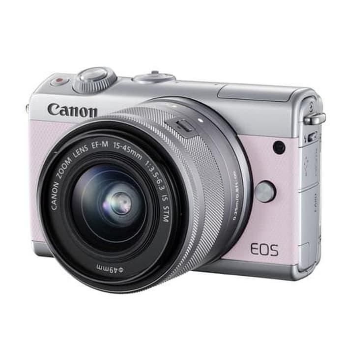 Canon EOS M100 Pink with EF-M15-45mm (CO)