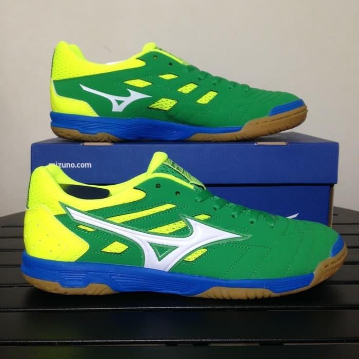 Best Seller Sepatu Futsal Mizuno Sala Classic 2 IN Bright Green / Sepatu Futsal / Sepatu Bola/ Sepatu Olahraga/ sepatu Futsal Original / Sepatu Bola Original / sepatu Running / Sepatu Pria