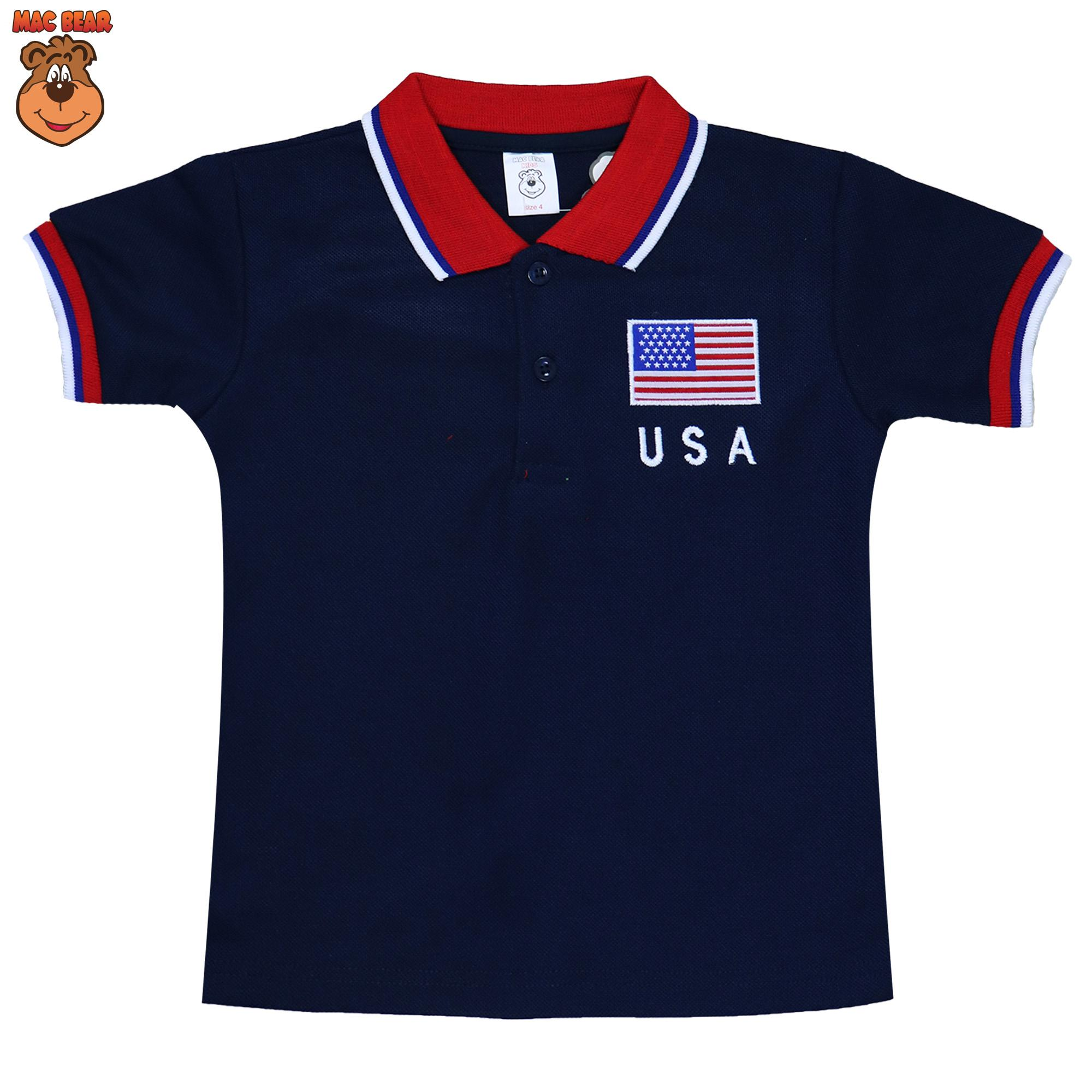MacBear Junior Baju Anak Atasan Polo Flag USA