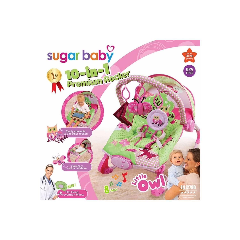 MURAH Sugar Baby Rocker Premium 10 in 1 Little Owl Ayunan Bayi Bounce